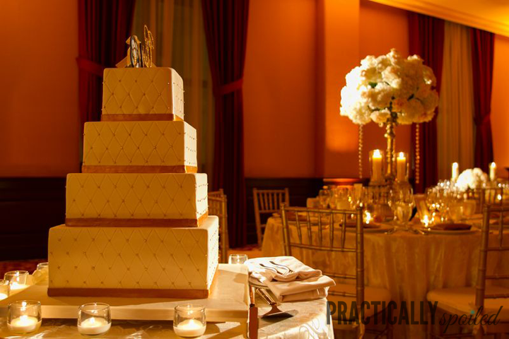 Our Gold, Quilted Wedding Cake - practicallyspoiled.com