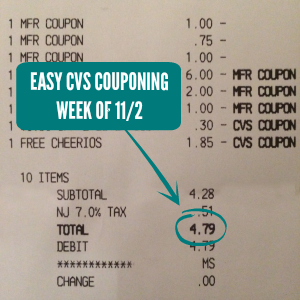 Easy Cvs Couponing Week Of 11 2