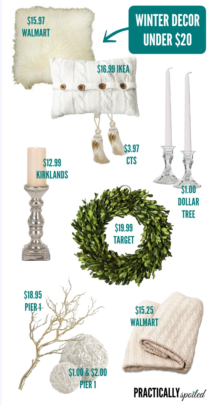 Winter Decor Under $20 - practicallyspoiled.com