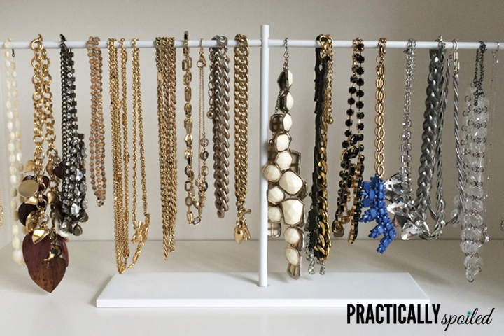 Instant Ikea Hack: $2.99 DIY Jewelry Stand - practicallyspoiled.com