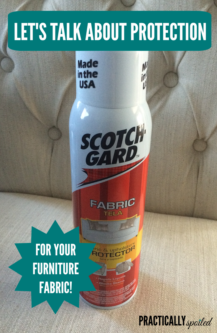 Protecting furniture and other fabrics with Scotchgard - practicallyspoiled.com