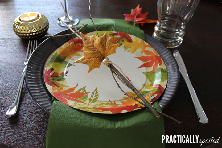 High Style Half Disposable Thanksgiving Table - practicallyspoiled.com & High style half-disposable Thanksgiving table