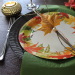 High style, half-disposable Thanksgiving table