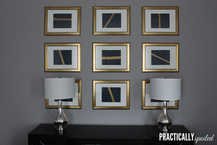 Simple & Chic DIY Art & Gallery Wall - practicallyspoiled.com