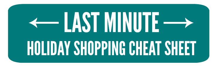 Last Minute Holiday Shopping Cheat Sheet - practicallyspoiled.com