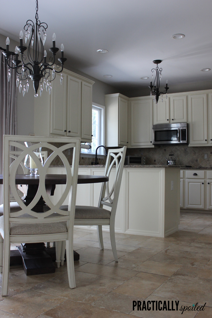 Practically Spoiled Took On A Huge Challenge With Painting Oak Cabinets But  She Found The Best