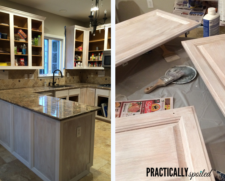 From HATE To GREAT, A Tale Of Painting Oak Cabinets!    Practicallyspoiled.com