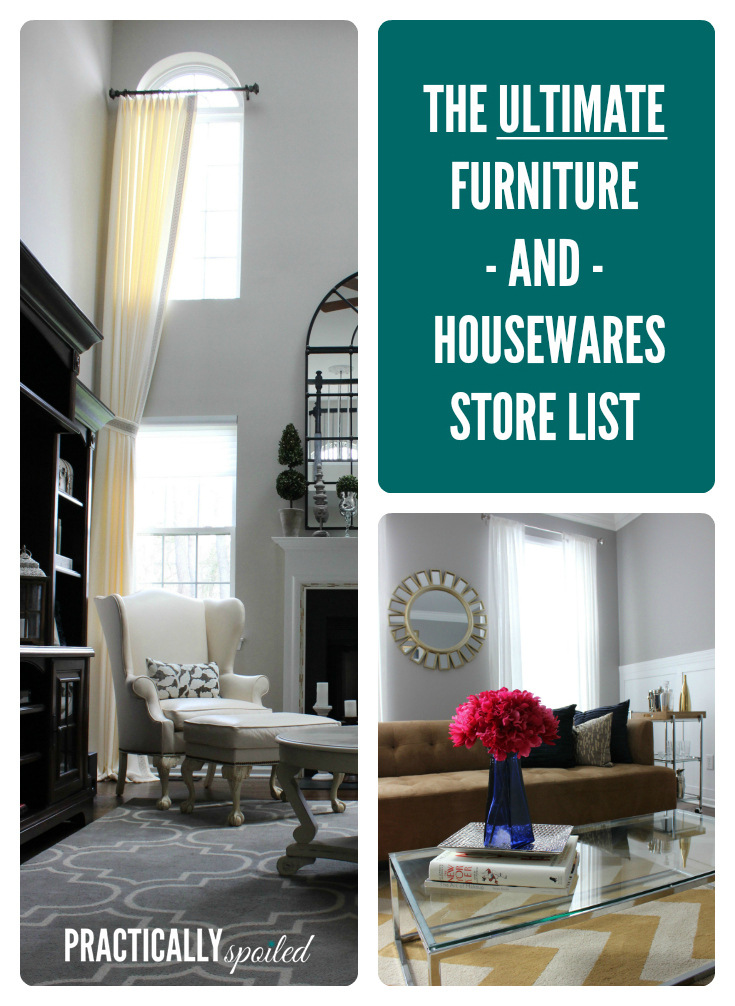 The Ultimate Furniture Housewares Store List