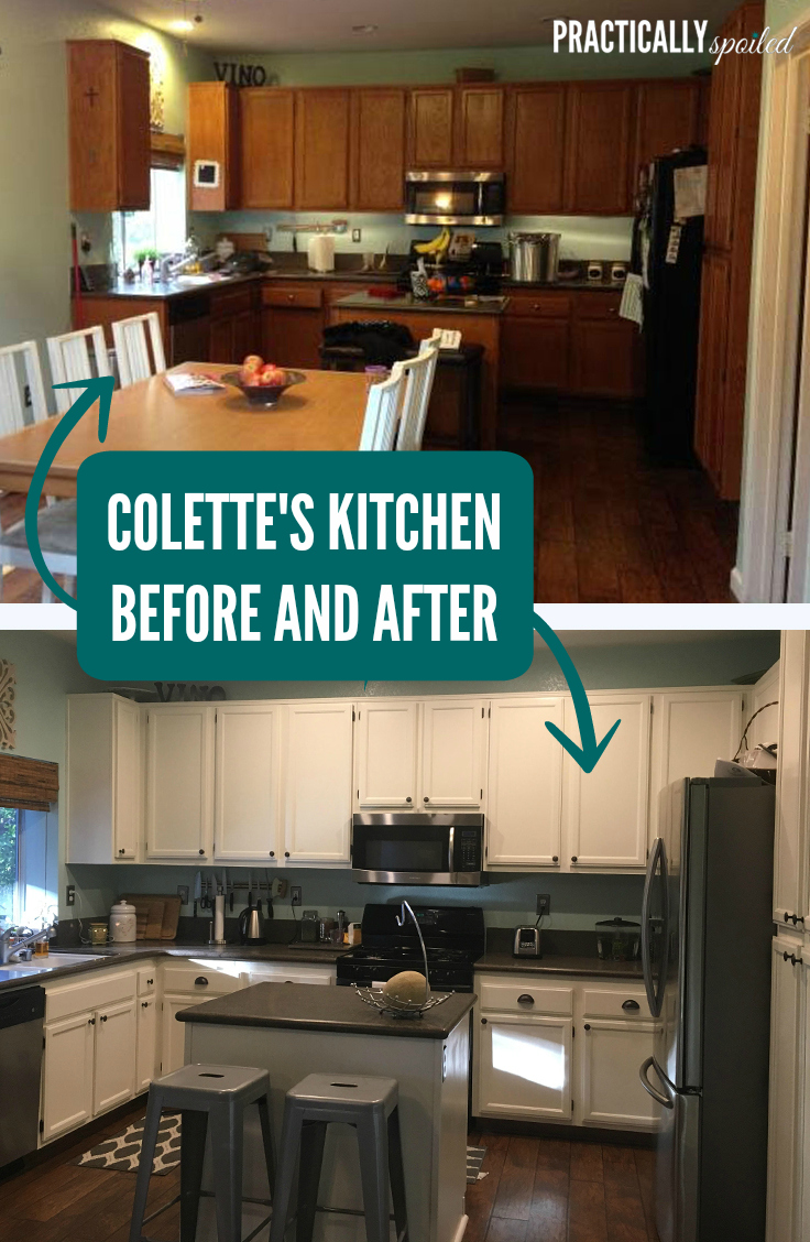Painting Old Kitchen Cabinets Before After Pictures. my kitchen ...