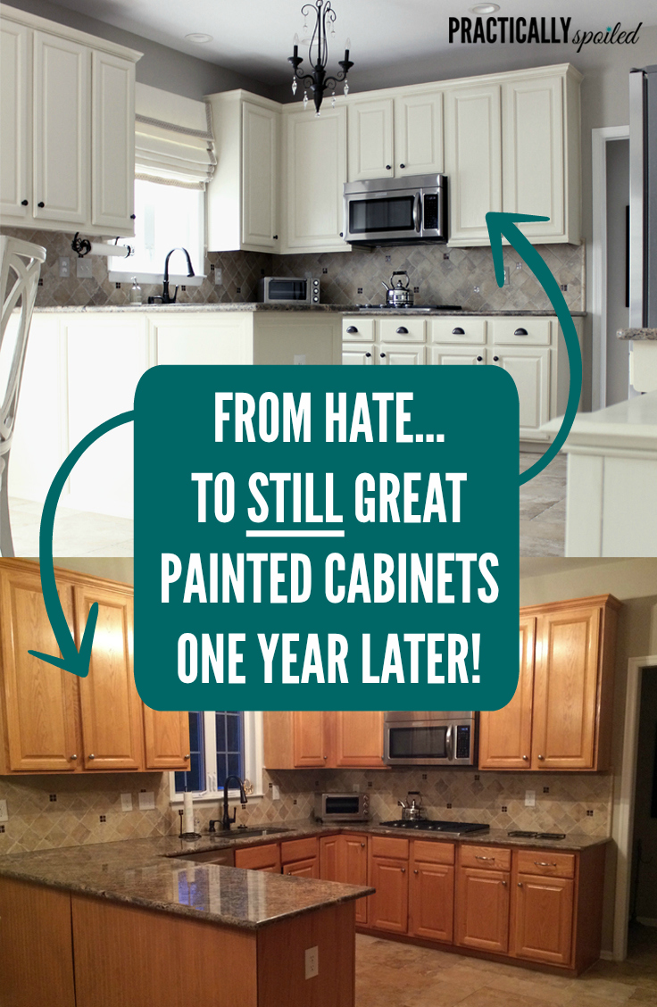 From Hate to STILL Great: Painted Cabinets One Year Later! - practicallyspoiled.com