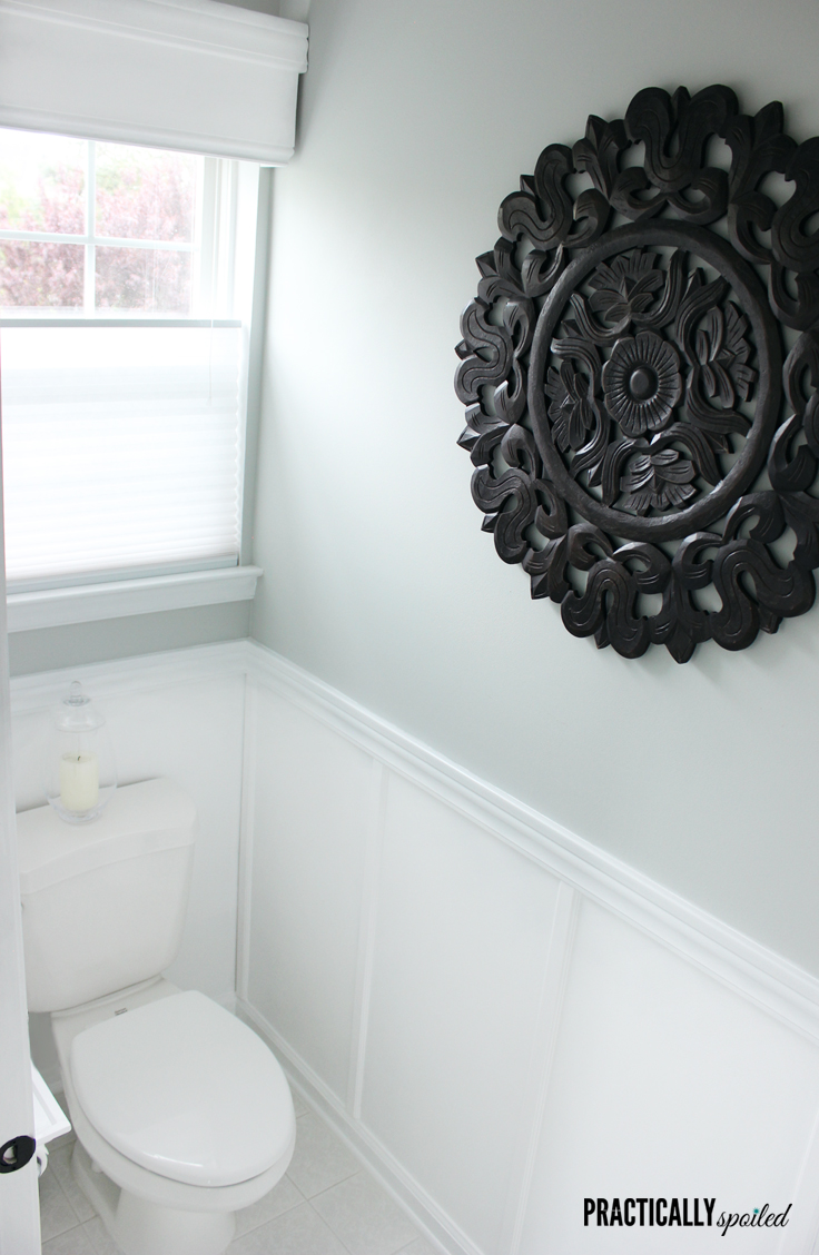 Blah, Basic & Boring Becomes a Beautiful Bathroom (on a Budget) - practicallyspoiled.com
