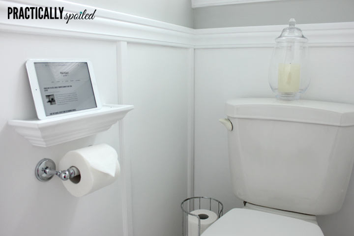 Blah, Basic, & Boring Becomes a Beautiful Bathroom (on a Budget) - practicallyspoiled.com