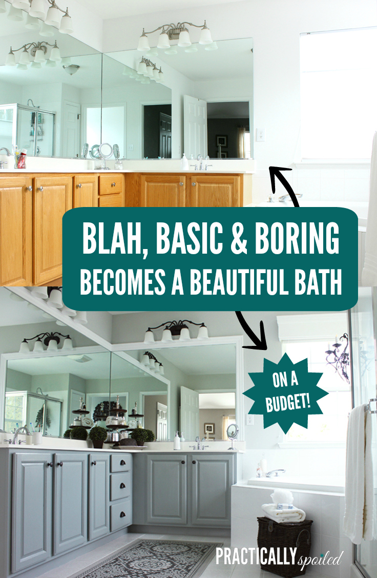 Blah, Basic & Boring Becomes a Beautiful Bathroom (on a budget!)