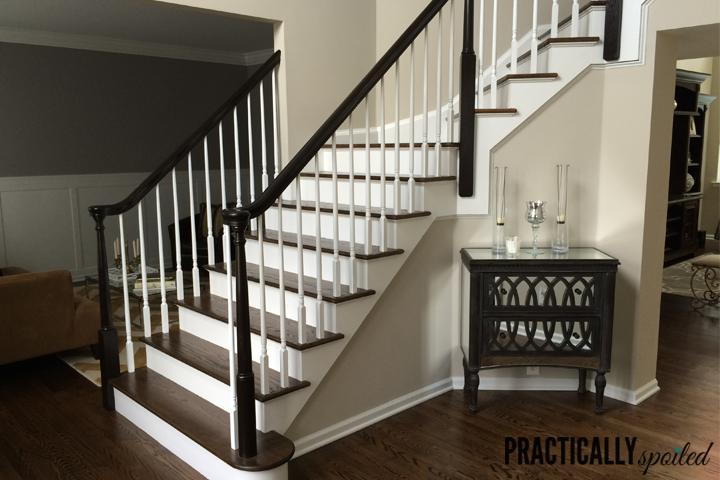 How To Gel Stain Banisters Without Sanding - practicallyspoiled.com